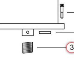 Goupille et ressort d'hélice pour propulseur Max Power CT35 CT45