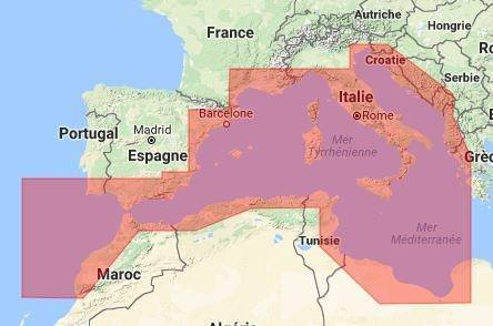 C-MAP Max N+ Wide Europe Sud Ouest